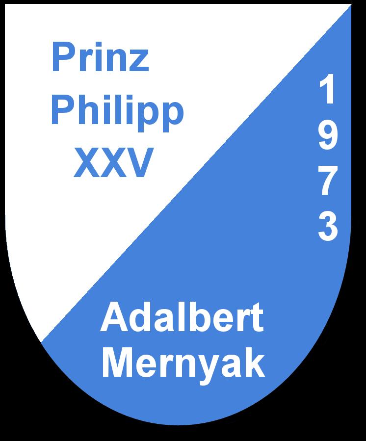 Prinz Philipp XXV Adalbert Mernyak und seine Pagen Ludmilla Fieser und Silvia Gänßmantel
