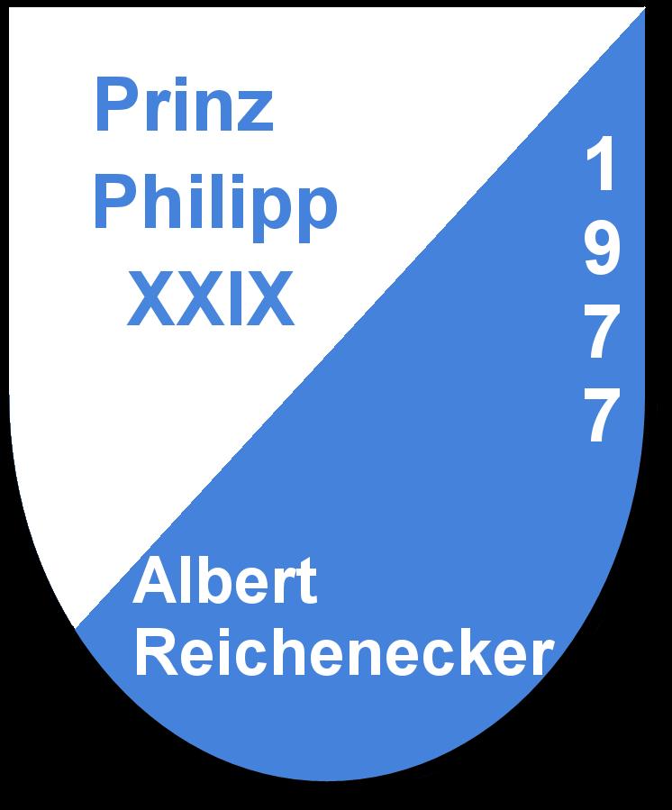 Prinz Philipp XXIX Albert Reichenecker und seine Pagen Gabriele Decker und Barbara Roll