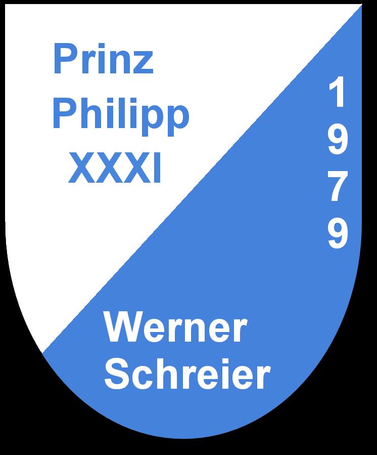 Prinz Philipp XXXI Werner Schreier und seine Pagen Daniela Herd und Sabine Einsmann