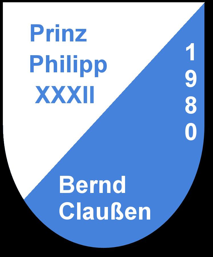 Prinz Philipp XXXII Bernd Claußen und seine Pagen Gudrun Boos und Ellen Grabowski