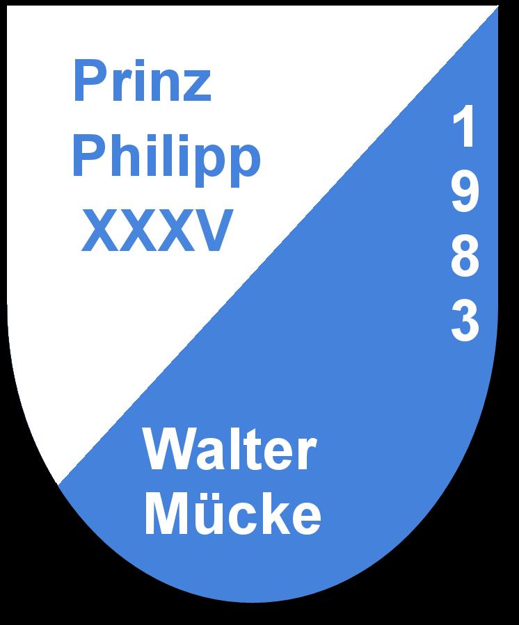 Prinz Philipp XXXV Walter Mücke und seine Pagen Hildegart Mücke und Jutta Jesberger