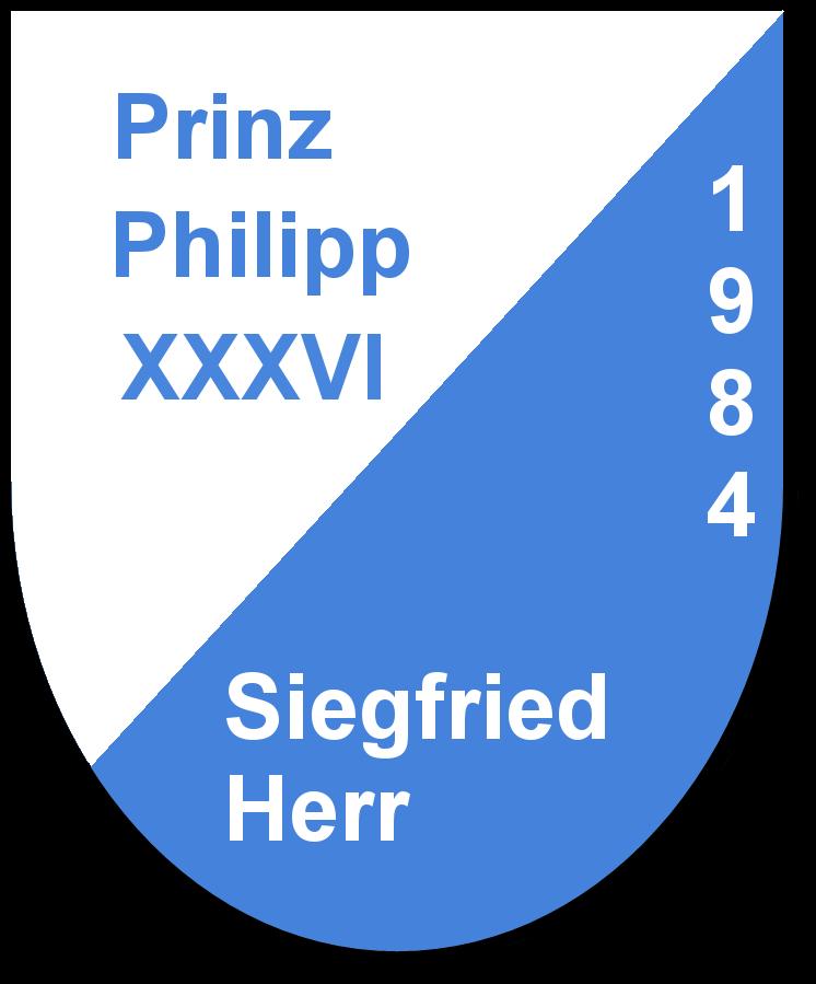Prinz Philipp XXXVI Siegfried Herr und seine Pagen Birgit Mernyak und Marina Frank