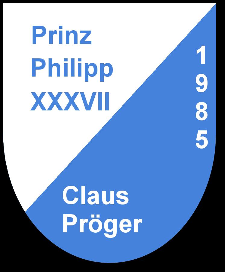 Prinz Philipp XXXVII Claus Pröger und seine Pagen Claudia Pröger und Manuela Herr