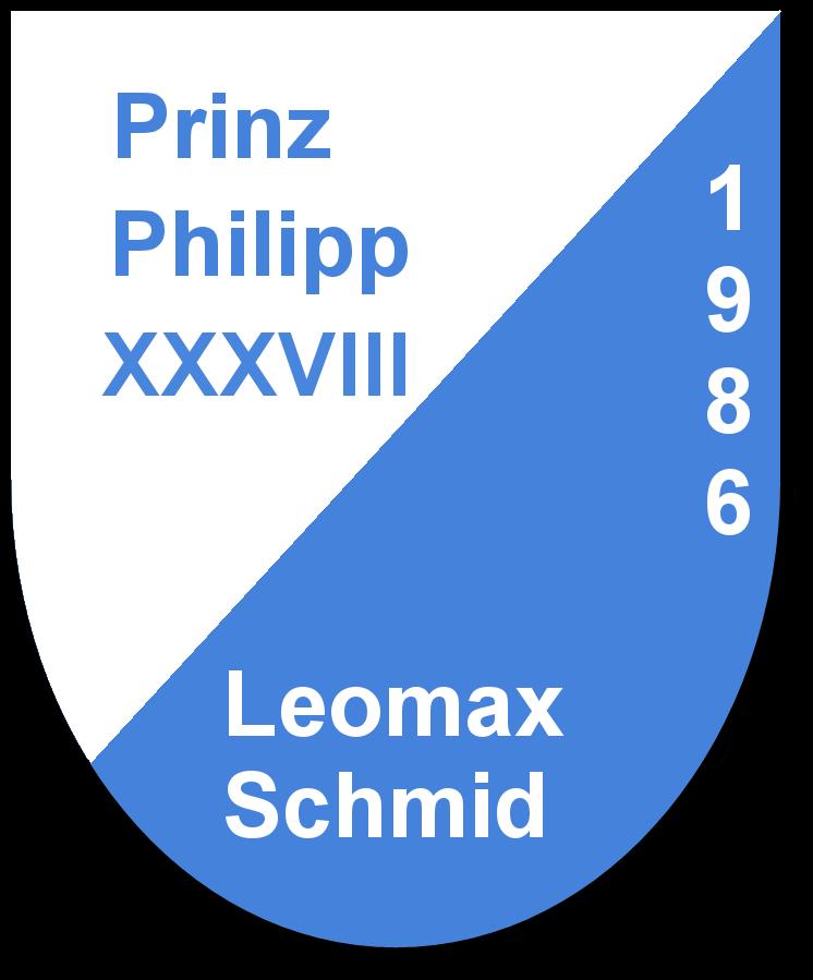 Prinz Philipp XXXVIII Leomax Schmid und seine Pagen Angelika Schmid und Yvonne Graf