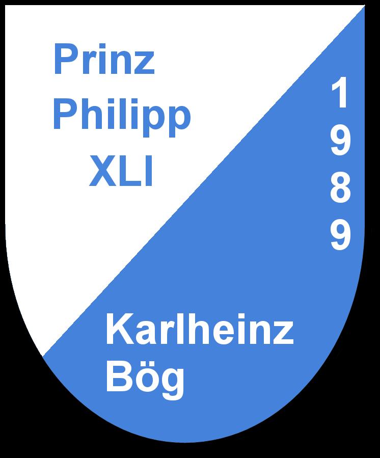 Prinz Philipp XLI Karlheinz Bög und seine Pagen Marita Plösser und Katja Fichtner