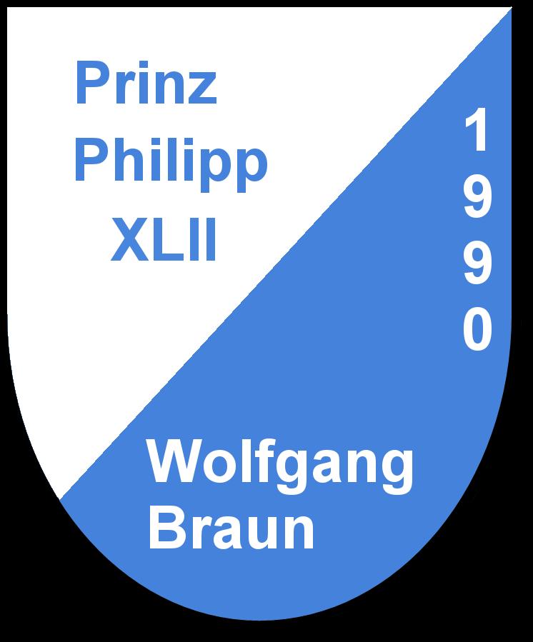 Prinz Philipp XLII Wolfgang Braun und seine Pagen Stephanie Heil und Simone Heil