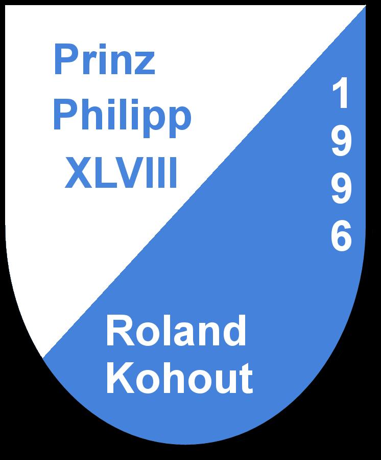 Prinz Philipp XLVIII Roland Kohout und seine Pagen Stefanie Künze und Angela Hofmeier