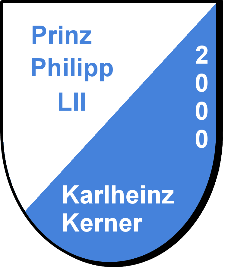 Prinz Philipp LII Karlheinz Kerner und seine Pagen Eva Maria Kerner und Domenica Brecht