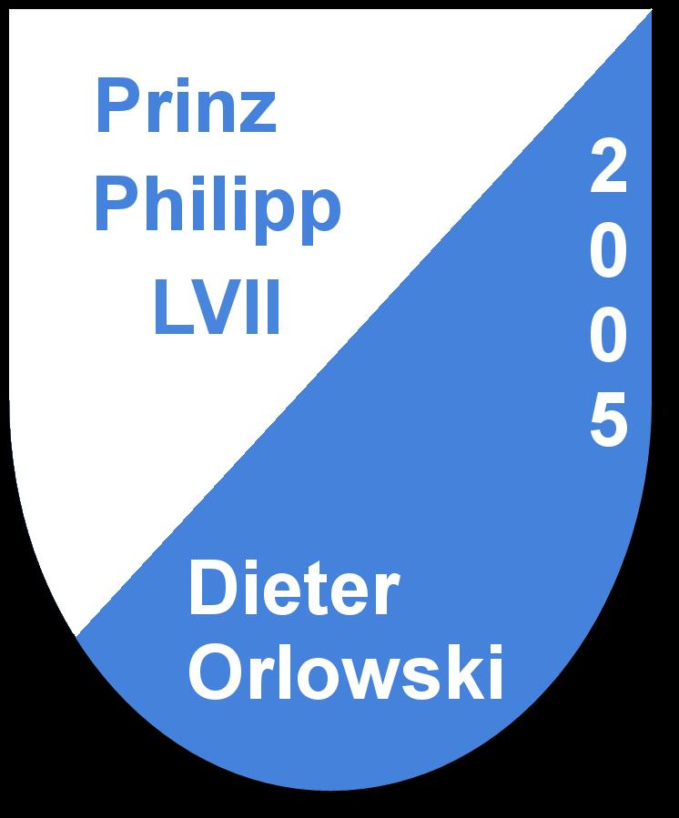 Prinz Philipp LVII Dieter Orlowski und seine Pagen Ramona Renkert und Sabrina Weick