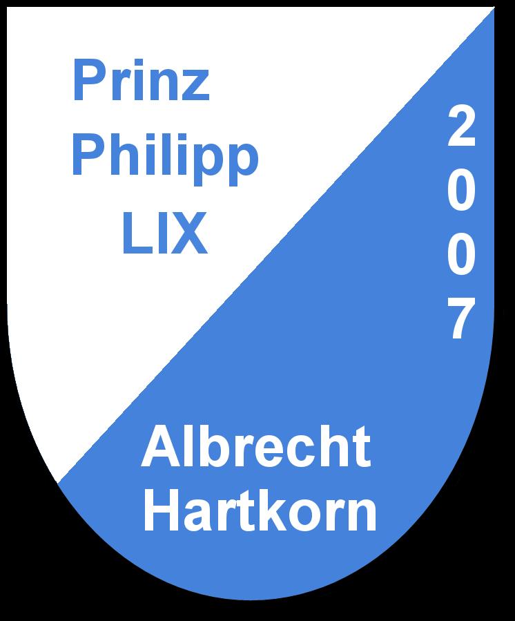 Prinz Philipp LIX Albrecht Hartkorn und seine Pagen Julia Herberger und  Domenica Brecht