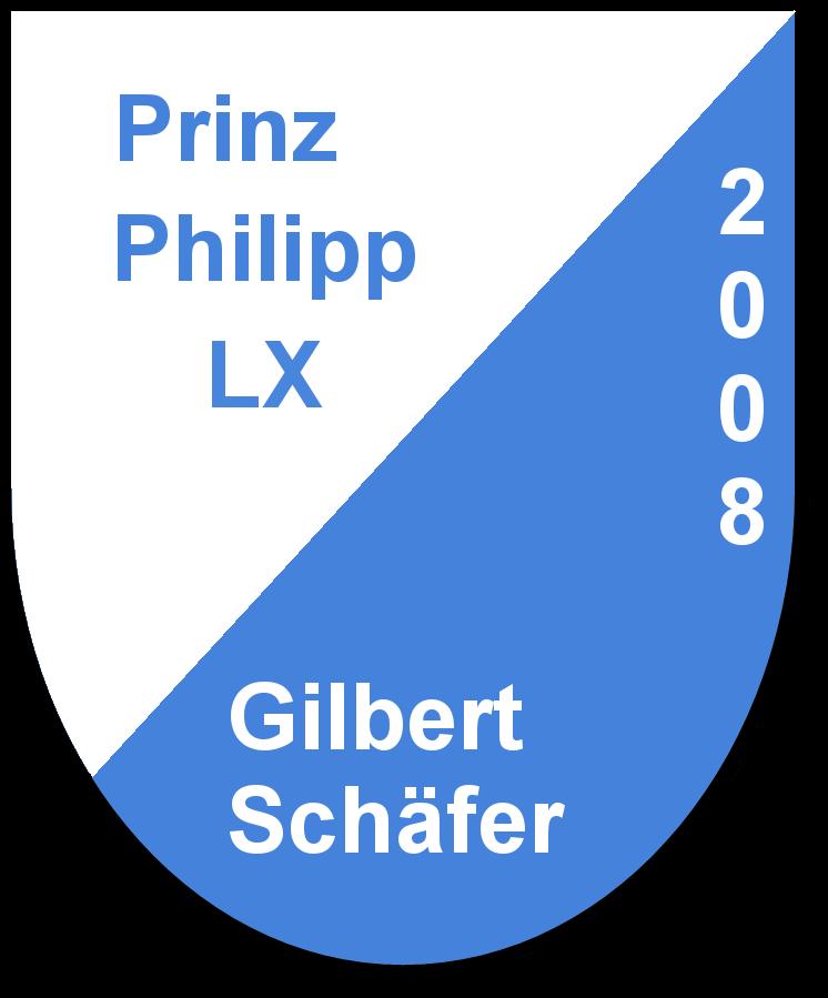 Prinz Philipp LX Gilbert Schäfer und seine Pagen Lisa Rudt und Lisa Seyfarth
