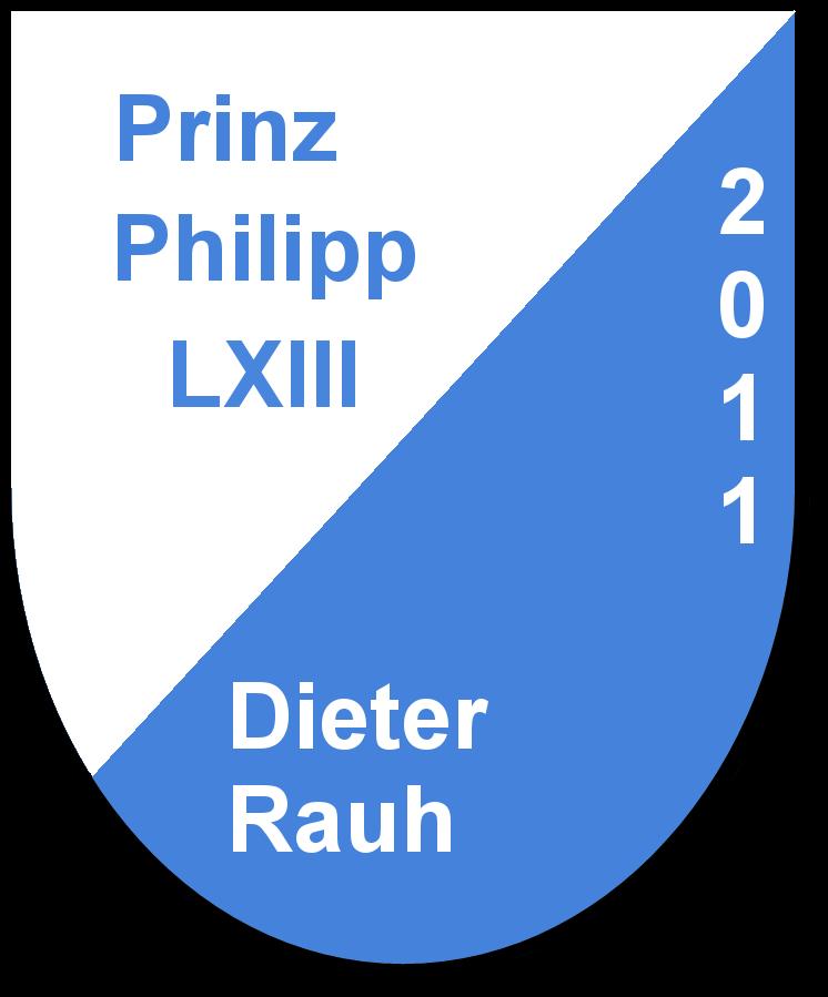 Prinz Philipp LXIII Dieter Rauh und seine Pagen Marina Wolsiffer und Jasmine Hoffner