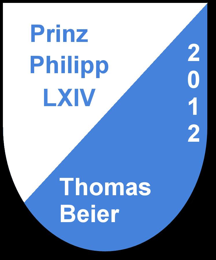 Prinz Philipp LXIV Thomas Beier und seine Pagen Nadine Pyttel und Melissa Stenzel