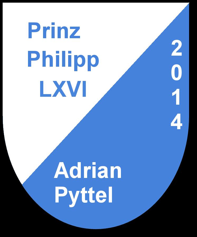 Prinz Philipp LXVI Adrian Pyttel und seine PagenJoline Pyttel und Nadine Pyttel