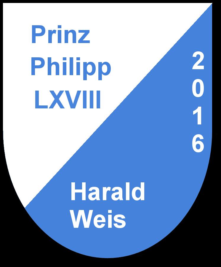 Prinz Philipp LXVIII Harald Weis und seine Pagen Rebekka Weis und Jule Baumann