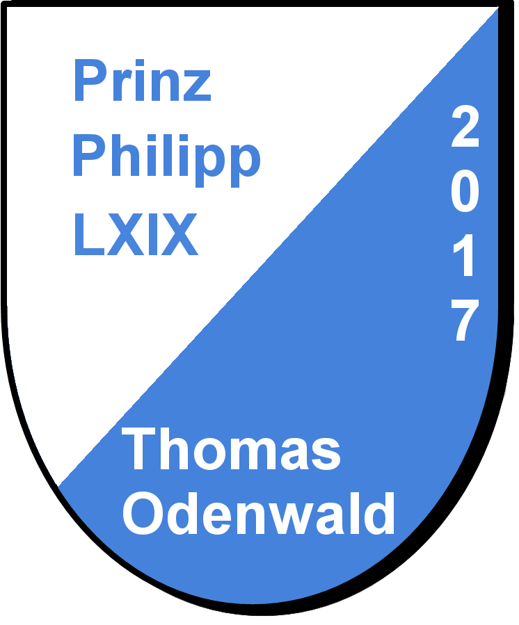 Prinz Philipp LXIX Thomas Odenwald und seine Pagen Marietta Odenwald und Melanie Zieger
