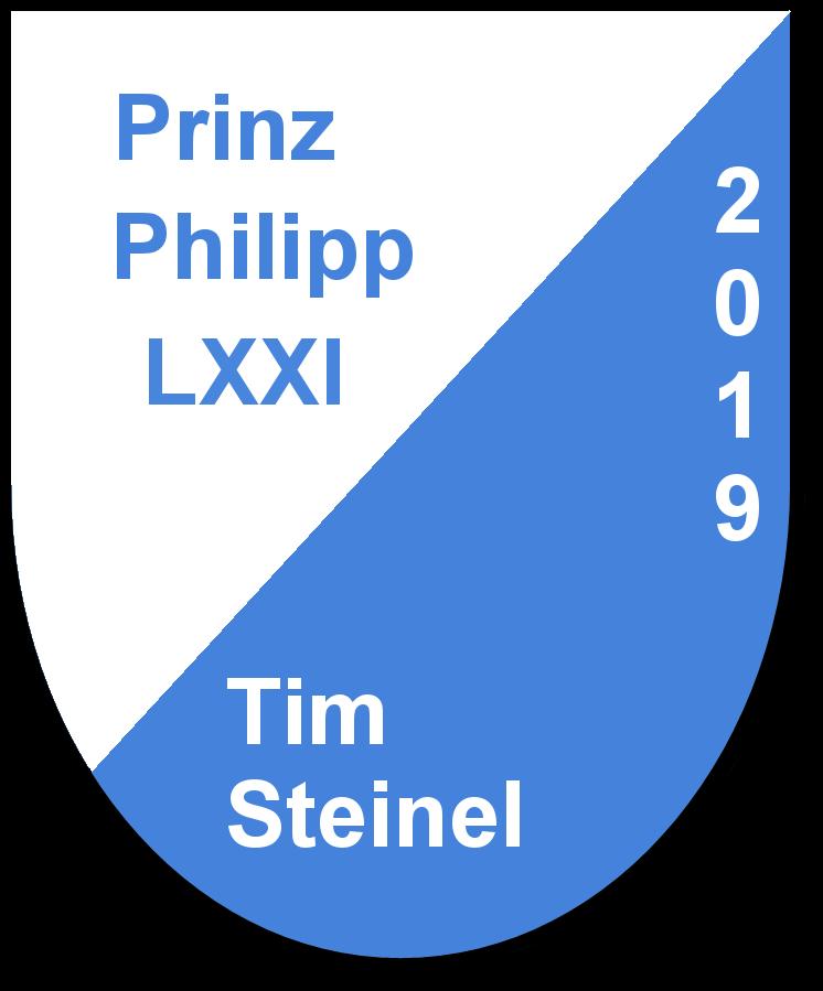 Prinz Philipp LXXI Tim Steinel und seine Pagen Marion Bopp und Yasmin Appich